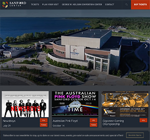 Sanford Event Center - WordPress Website Design